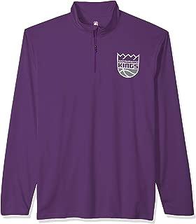 Ultra Game NBA Men's Quarter-Zip Pullover Active Shirt