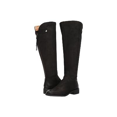 Franco Sarto Brindley Wide Calf (Black Morocco Leather) Women