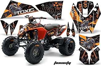 AMR Racing ATV Graphic Kit Sticker Decals Compatible with KTM 450 525 2008-2010 - Toxicity Orange
