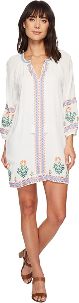 Miss Me - Embroidered V-Neck Dress