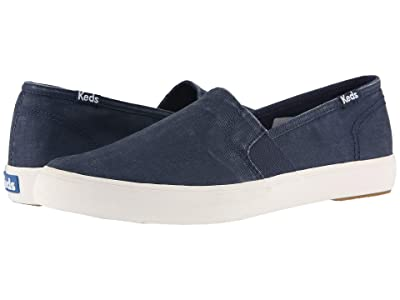 Keds Clipper Washed Solids (Navy) Women