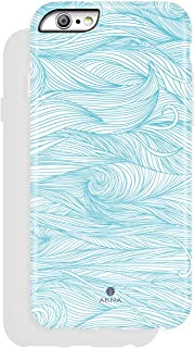 iPhone 6/6s case for Girls, Akna Get-It-Now Collection High Impact Flexible Silicon Case for Both iPhone 6 & iPhone 6s [Blue Wave](215-U.S)