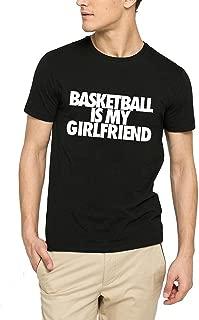 Mens Basketball is My Girlfriend Funny Black T-Shirt Tee