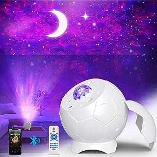Fezax Proiettore Stelle, Romantica luce stellata con altoparlante Bluetooth e suono attivato, Proiettore Nebula Galaxy Lig...