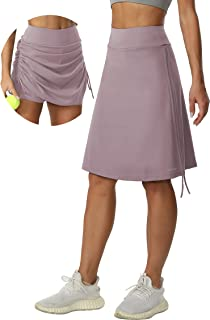 """Sponsored Ad - Cakulo Women's 20"""" Knee Length Skorts Skirts Athletic Modest Sports Golf Casual Long Skirt with Pockets"""