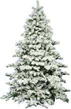 Vickerman Flocked Alaskan Unlit Pine Christmas Tree