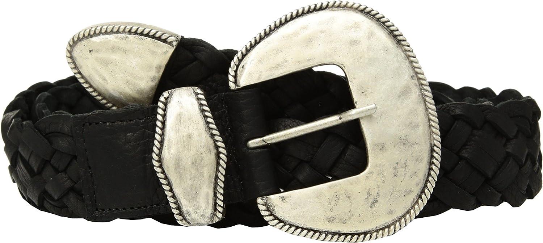 Leatherock Women's Darcy Belt Black XL (38  Waist)