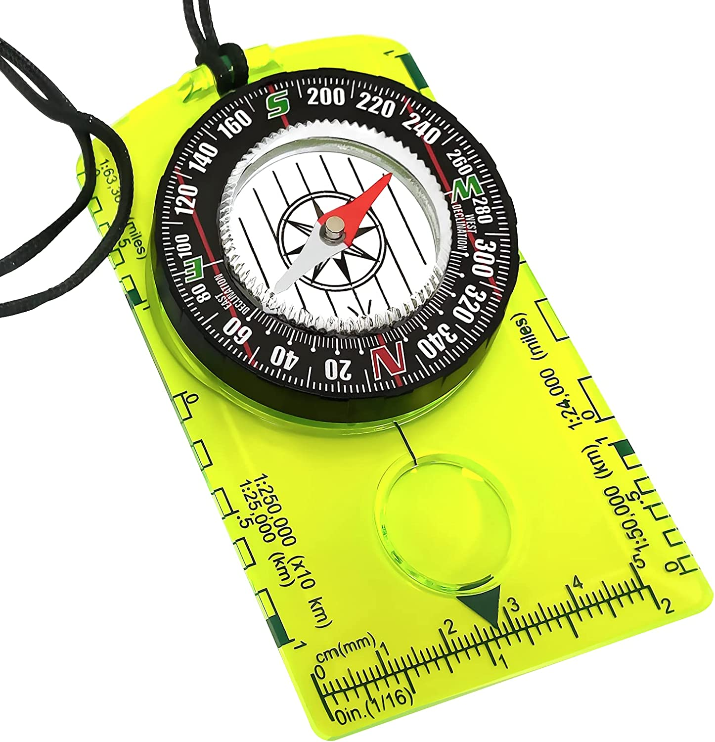 Orienteering Compass - Hiking Backpacking Compass - Advanced Scout Compass Camping and Navigation - Boy Scout Compass for kids - Professional Field Compass for Map Reading - Best Survival Gifts : Sports & Outdoors