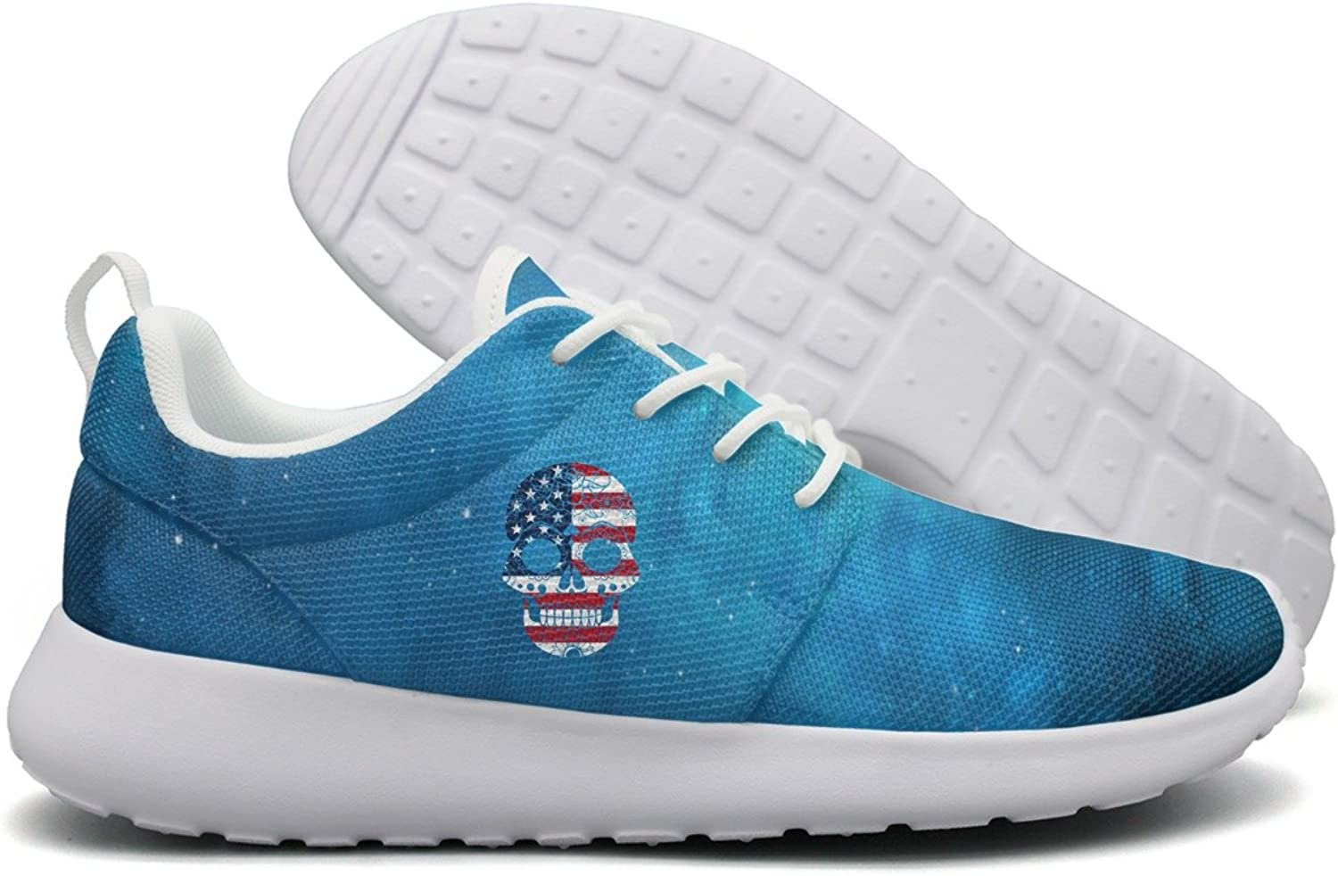 SKULL-USA Skull American Flag Flex Mesh Lightweight shoes