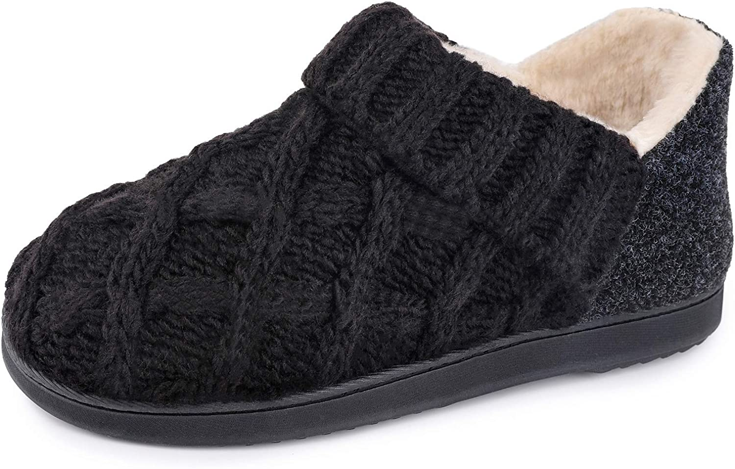 Women's Warm Wool Yarn Cable Bootie Memory Knitted Slippers Super intense Mesa Mall SALE