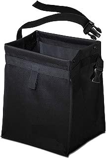 EcoNour Car Trash Bag Waste Bin - Leak-Proof Garbage Can for Multipurpose Litter Basket with Back Seat Holder