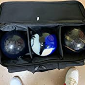 Storm Streamline 3 Ball Roller Bowling Bag Black//Silver