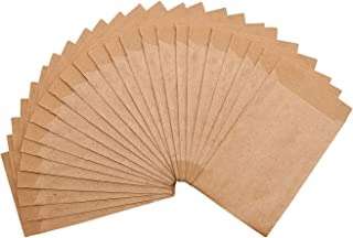 24 braune Papiertüten aus Kraftpapier 6,3 x 9,3 cm / Vintage Flachbeutel als Taschentuchhalter für Freudentränen / Geschenk-Tüten / zur Aufbewahrung / in schönem Kraft-Look / zum Basteln