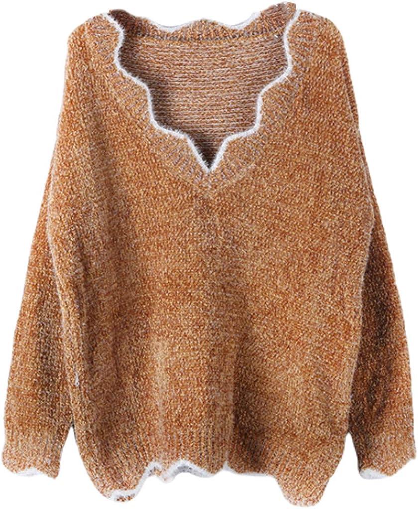 Sixinu Women Winter Autumn Warm Sexy Overseas parallel import Trust regular item V-Neck Casu Sweater Knitted