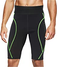 LODAY Mens Neoprene Sauna Sweat Shorts with Zipper Pocket Workout Body Shaper Slimming Yoga Pants