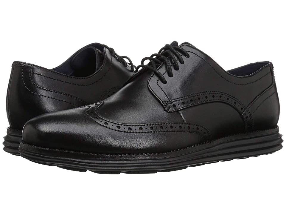 Cole Haan Original Grand Wingtip Oxford (Black/Black) Men