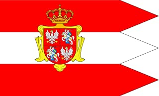Royal banner not a flag of the Polish-Lithuanian Commonwealth during the reign of the House of Vasa 1587-1668 but without any symbols of the House of Vasa and Polish-Swedish personal union Flag