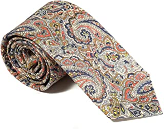 Luxury Neckties for Men: Liberty London Cotton Necktie, Classic Floral