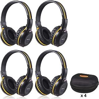 4 Pack of DVD Wireless Headphones, Car Kids Headphones, IR Headphones for Car Entertainment System, Wireless IR Headphones...