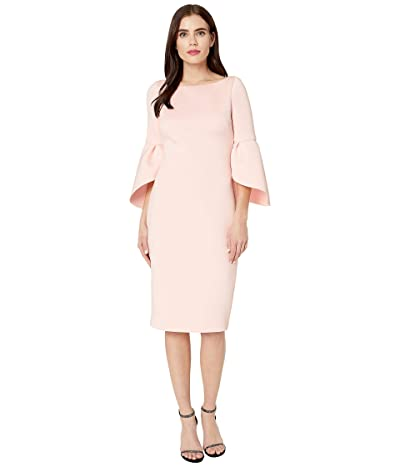 Badgley Mischka Tulip Sleeve Cocktail (Rosette) Women