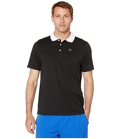 Nike SB SB Jersey Short Sleeve Polo (Black/White/Black) Men