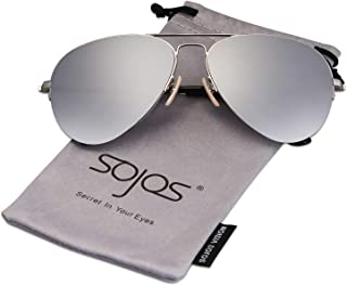 Men's Women's Aviator Sunglasses,Classic Half Rim Metal,INSPIRATION SJ1106