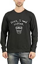 GOODTRY G Men's Cotton Printed Sweatshirt- Coffee