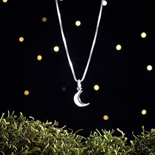 Sterling Silver Crescent Moon - Simple Everyday Jewelry - Small, Minimalist - (Charm Only or Necklace)