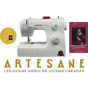 Singer Decorative Machine à Coudre Blanche 31 Points Ajustables avec 2h de Cours de Couture Artesane Inclus