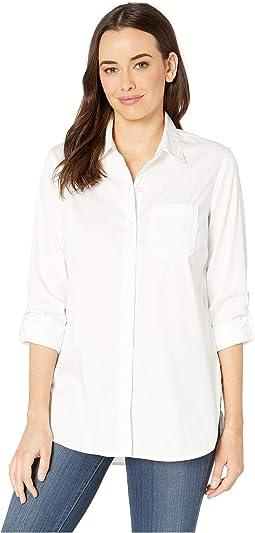 Stretch Shirting Roll Up Sleeve Shirt