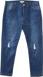 (ヨンユー) 4u スキニーデニム メンズ ストレッチ ダメージジーンズ クラッシュデニム スリム 細身 タイト フィット BITTER ビター系 ストリート ファッション ボトムス sts-19372