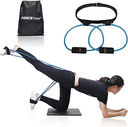 Forcefree+ Booty Bands System - Workout Resistance Belt, Exercise Resistance Bands for Bikini Butt and Lower Body Muscles Workout with Carry Bag & Exercise Guide
