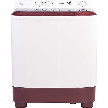 Haier 6.5 Kg Semi-Automatic Top Loading Washing Machine (HTW65-1187BT, Burgundy)