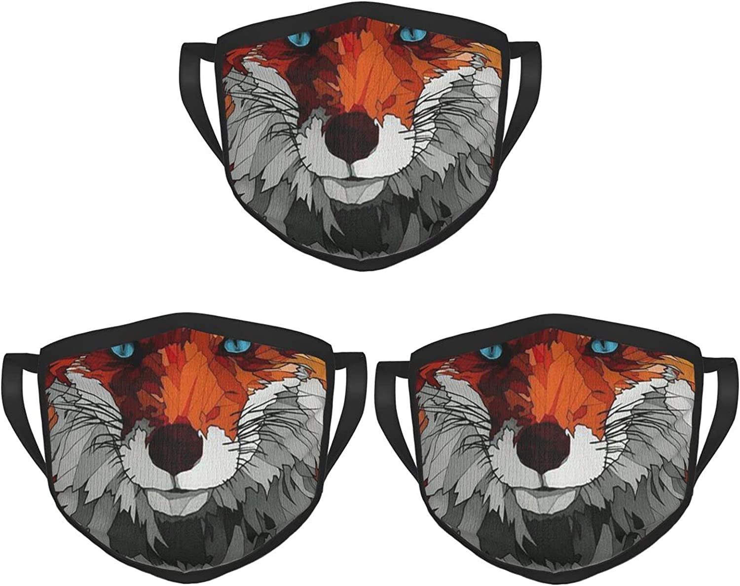 Balaclava Earmuffs Fox Animal Art Inspiration Face Mouth Cover Mask Reusable Windproof Scarf Towel Cover Headwrap