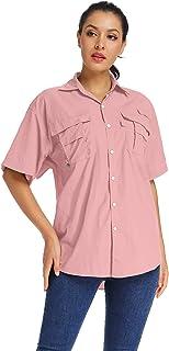 Women's Quick Dry Sun Protection Convertible Long Sleeve Hiking Camping Fishing Shirts
