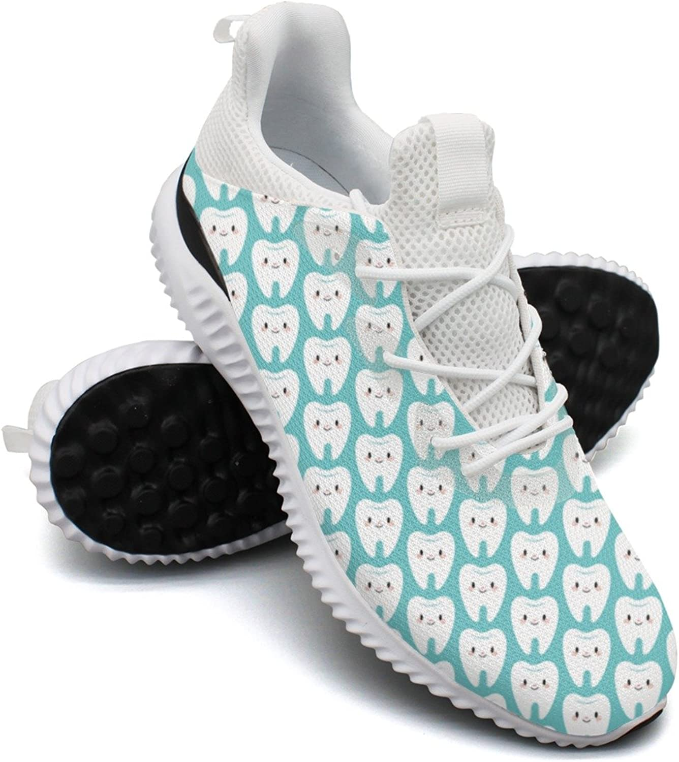 Cute Molar Teeth Leisure Casual Running shoes Young Women Printing Funny Active 8.5 Size