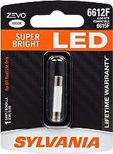 SYLVANIA - 6612F 29mm ZEVO LED Festoon Fuse White Bulb - Ideal for Interior Lighting Vanity Mirror Sun Visor Lights also fits 6615F 6614F 6641F (Contains 1 Bulb)