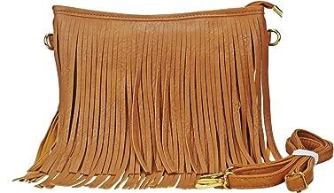 Sibalasi Chic Fringe Crossbody Bag Bohemian Tassel Lightweight Hippie Small Shoulder bag