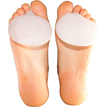 Gel Ball of Foot Pain Cushions Pads Forefoot Metatarsal Support Sore Insoles BI
