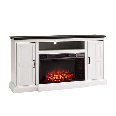 SEI Furniture Belranton Media Console Storage Fireplace