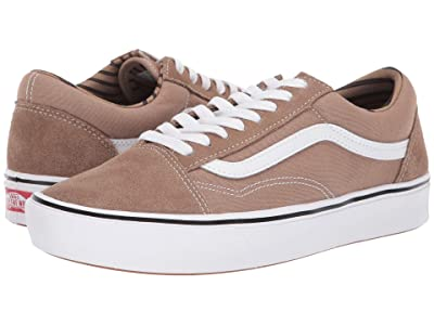 Vans Comfycush Old Skool ((Stripes) Portabella/True White) Athletic Shoes