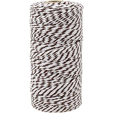 Decorative Bakers Twine for DIY Crafts and Gift Wrapping 2-Pack Just Artifacts ECO Bakers Twine 110yd 12Ply Striped Adobe