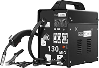 VIVOHOME Portable Flux Core Wire No Gas MIG 130 Welder Machine 110V Black