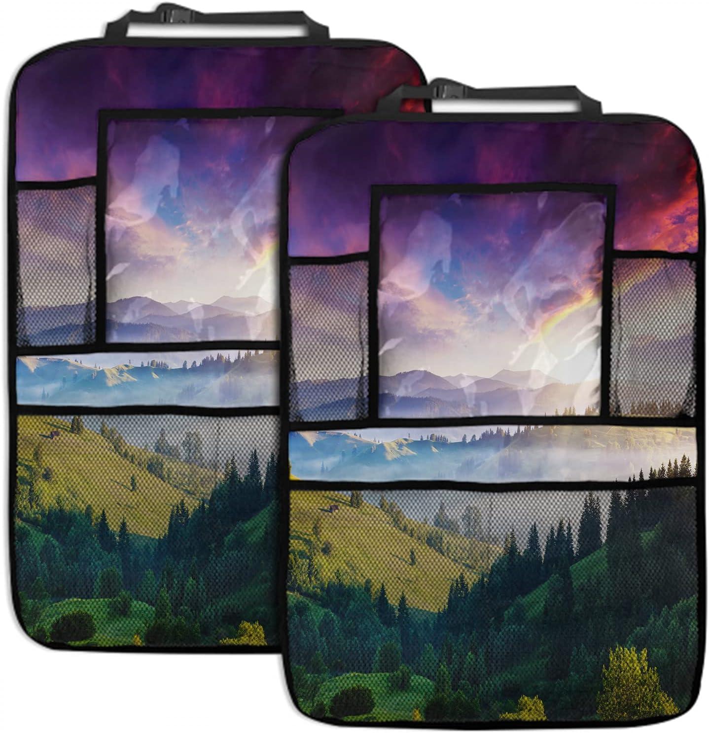 EKOBLA Mountain Landscape 2 Pack Car Branded goods 19x27.5 Latest item Organizer Inch Seat