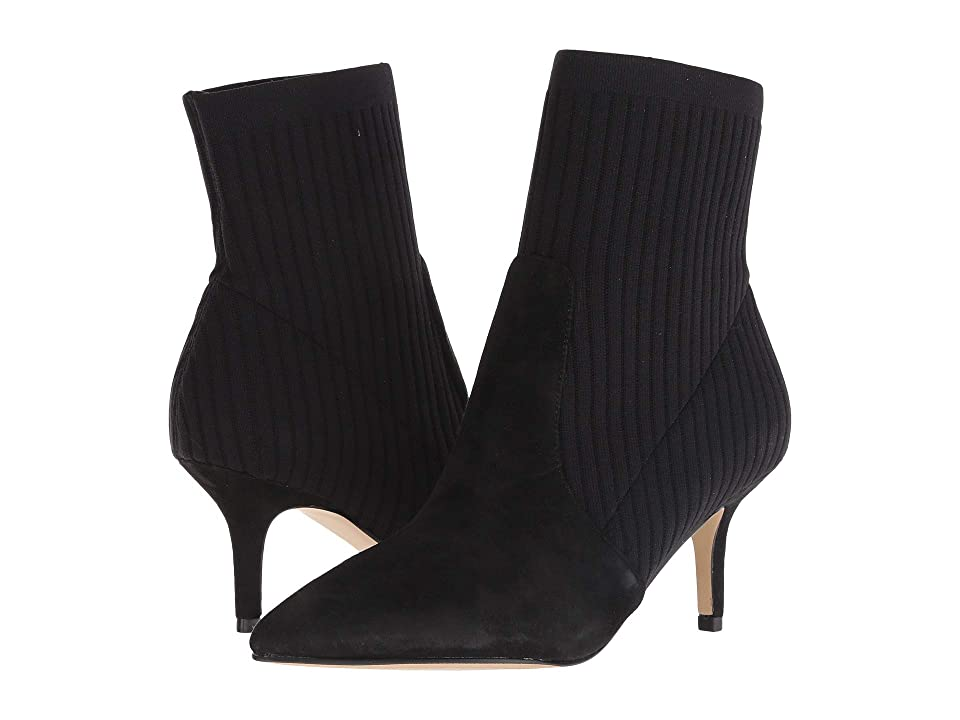Marc Fisher Albinia (Black Suede/Knit) Women