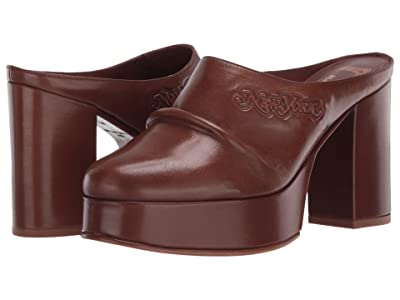 Marc Jacobs The Clog 70 mm (Dark Brown) Women