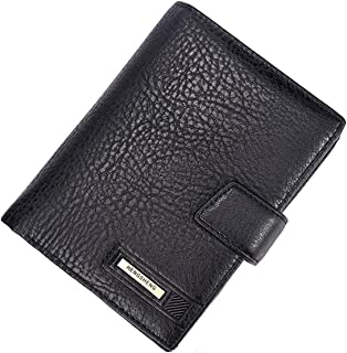 TT WARE Men RFID Blocking PU Leather Wallet Passport Card Holder Money Coin Purse-Black