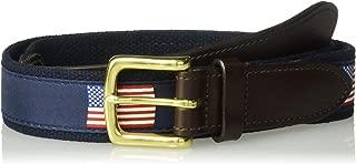 Vineyard Vines Men's American Flags Canvas Club Belt