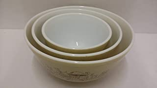 Vintage 1970s Pyrex Nesting Bowls/ Mixing Bowls 401 402 403 Mushroom
