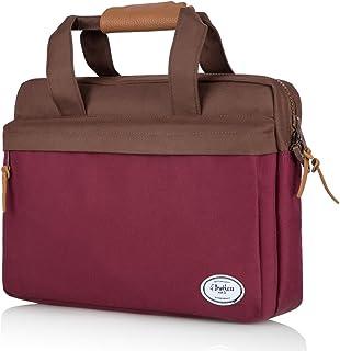 G Brothers 15.6 Laptop Bag Lightweight Twill Polyester Carryall Bag for Laptop, Laptop Case for Men/Women Messenger Bag for Apple MacBook Pro, Dell, Lenovo, HP, Samsung, Shoulder Strap - Windsor Wine